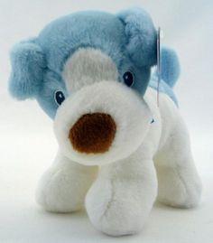 7 Aurora Baby Plush Blue Dog Squeak Stuffed Animal New | eBay