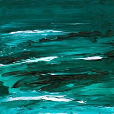 Teal Sea Abstract Landscape