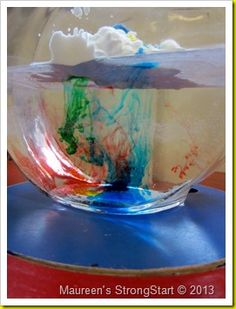 Make it rain science experiment ~ Strong Start Science Week, Kindergarten Science, Science Experiments Kids, Science Fair, Teaching Science, Science For Kids, Science Projects, Classroom Fun, Science Classroom