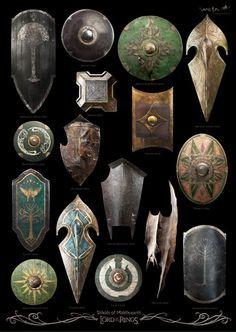 Los escudos de la Tierra Media en la trilogía de El señor de…