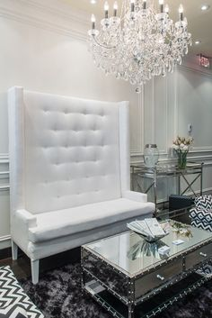 This is actually a plastic surgeon's waiting area, but I like this look for a penthouse.