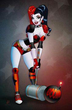 Harley Quinn Roller Derby Boom