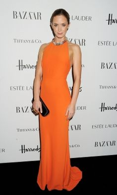 Emily Blunt looks stunning at the Harper's Bazaar Women of the Year Awards 2012