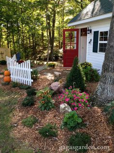a teacher s dream garden shed, curb appeal, gardening, outdoor living, The landscaping completes the potting shed adornment