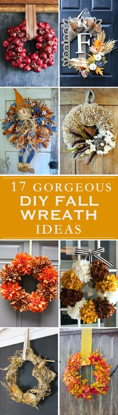 Adding a fresh fall wreath is one of the best ways to welcome guests to your home. Decorate your front door or your living room in fall spirit with an adorable wreath in fall colors. There are so many ways that you can make your own fall wreath in an easy