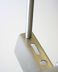 Trapeze Hanger Rod for Food Grade Strut. Eberl Iron Works, Inc. is a distributor of Food Grade Strut.