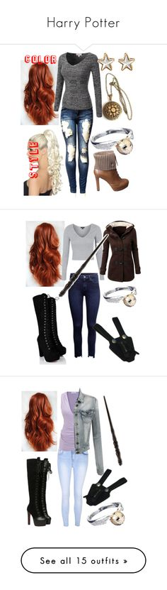 """""""Harry Potter"""" by thealpharaven1900 ❤ liked on Polyvore featuring INDIE HAIR, Gucci, Givenchy, Topshop, Emma Watson, Glamorous, LE3NO, Goodhope Bags, Steffen Schraut and Perceval"""