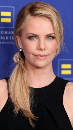 Charlize Theron-side ponytail that's actually stylish