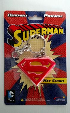 Superman classic Shield size: Approx. Dc Comics Rubber Keychain // Key Ring