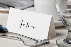 Calligraphy Place Name Cards, Simple Wedding Place Cards