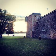 Le coucher de soleil au fort Chambly