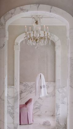Splendor in the Bath. Beautiful marble. Bathroom Marble, Marble Foyer, Master Bathroom, Marble Bath, Modern Bathroom, Bathroom Ideas, Bathroom Inspiration, Small Bathroom, Shower Ideas