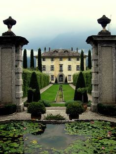 Villa Il Balbiano, Italy. Built in the end of the 16th century and enlarged in the 18th century.