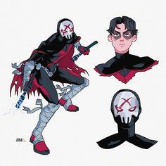 Superhero Art Projects, Superhero Design, Comic Books Art, Comic Art, Comic Character, Character Design, Batman Fan Art, Nightwing And Starfire, Teen Titans Fanart