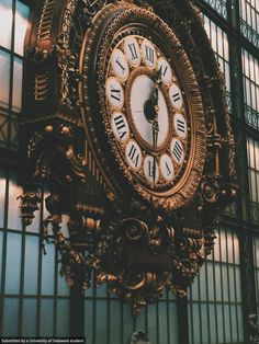 Junior Megan Norregaard, studying Fashion and Art. captured the beauty of this ornate clock at the d'Orsay Museum in Paris, France  #UDAbroad