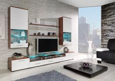 Chicago 2 - white and black contemporary wall unit