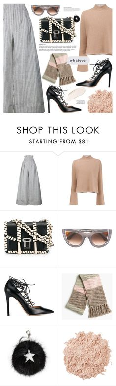"""."" by makeupgoddess ❤ liked on Polyvore featuring Jacquemus, Proenza Schouler, Thierry Lasry, Valentino, J.Crew, STELLA McCARTNEY, KAROLINA and La Mer"