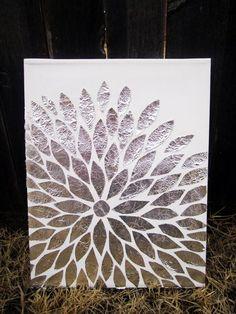 DIY Foil Art (Da kann man sicher auch Schokoladenfolie nehmen... naschen vorm Basteln... :D )