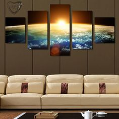 5 Piece Sunrise | Canvas Art #menstrends Now in stock here ->http://mistermodern.com/products/5-piece-sunrise-canvas-art  #mistermodern