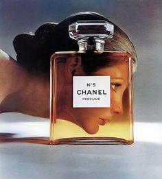 Model Vicki Hilbert for Chanel No.5 Perfume ad, photographed by Richard Avedon.
