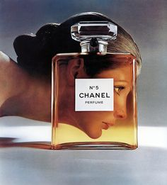 Model Vicki Hilbert for Chanel No.5 Perfume ad, photographed by Richard Avedon.