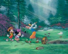 James Coleman - Goofing Off - Mickey & Minnie Mickey Cartoons, Animated Cartoon Characters, Disney Characters, Disney Paintings, Oil Paintings, Disney Canvas, Disney Fine Art, Creation Photo, Disney Artists