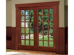 Ultra out swing french door by milgard windows and doors for Milgard windows price list