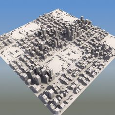 3d city mass modeled - Detailed City Mass Model... by ES3DStudios