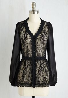 Victorian lace blouse top. Escapade in the Shade Cardigan $49
