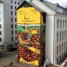 OS GEMEOS thegiant of #belarus #mural #vulicabrasil