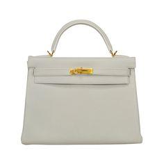 2014 Hermes Kelly Bag 32cm White color Gold Hardware. 484b4311a6
