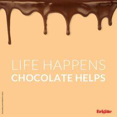 Schokolade hilft!