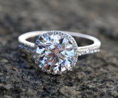 GIGANTIC GIA Certified - 5.25 carat - Round Halo Diamond Engagement Ring - Solid Platinum - Luxury - Custom - wedding - Bph024