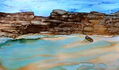 Abandoned in alcohol ink by me, Laurie Henry   Copyright 2013.