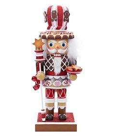 Loving this 20'' Chubby Gingerbread Nutcracker on #zulily! #zulilyfinds