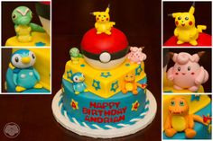 Pokemon birthday cake. This one is really nice! With Pikachu, Charizard, Clefairy, Piplup and Caterpie