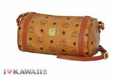 Vintage Authentic MCM Cognac Visetos Shoulder Bag Hand Purse Free Shipping!