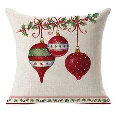 hot sale fashion New Christmas Linen Square Throw Flax Pillow Case Decorative Cushion Pillow Cover just for you Decorative Pillow Cases, Throw Pillow Cases, Decorative Cushions, Throw Pillows, Cushion Pillow, Sofa Throw, Couch Sofa, Cushion Covers, Christmas Cushions