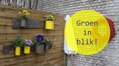 Groen in blik! Gelukkig hoef je geen natuurtalent te zijn om op een leuke manier voor groen te zorgen op je terras. Met conservenblikken, bijvoorbeeld.