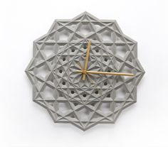 Unique Clock Deco for Your Wall. Wall clock deco is the object you need to decorate the walls in your home. A clock is not only useful for informing time, but also as one of the amazi. Concrete Design, Concrete Projects, Concrete Wall, Silver Wall Clock, Big Wall Clocks, Unique Clocks, Cool Clocks, Wall Watch, Islamic Patterns