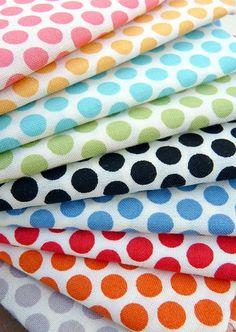 rainbow polka-dots