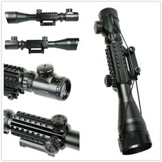 71.86$  Buy now - http://aliz9i.worldwells.pw/go.php?t=32599487856 - Tactical Optical Rifle Scope Red Green Dual illuminated w/ Side Rails & Mount Hunting Airsoft C4-12X50