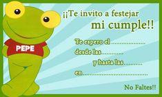 CLICK aquí para imprimir la Invitación de Sapo Pepe para imprimir
