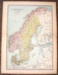Old Map Of Lund Sweden Antique Vintage Old Maps The Map - Map 0f sweden
