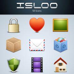 ウェブデザインに使える質感の高い無料アイコン50個セット「Isloo Icons」