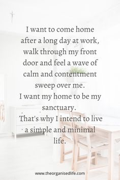 declutter If calm and contentment is what you need then come and try my 14 day Minimalist challenge and learn how to live the simple life. Minimalist Lifestyle, Minimalist Living, Minimalist Quotes, Minimalist Decor, Slow Living, Home Living, Hygge, Minimalist Bullet Journal, Living Vintage