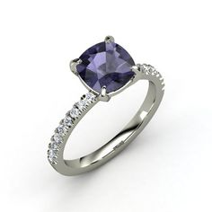 The Cecilia Ring-iolite & diamond <3
