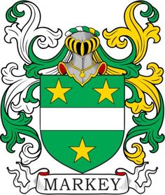 Markey Family Crest and Coat of Arms