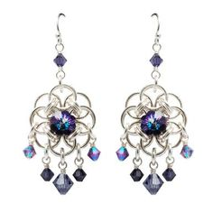 Jumpring Earrings with Crystal Beads. Craft ideas 5470 - LC.Pandahall.com