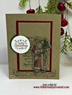 Stampin' UP! Father Christmas - RemARKable Creations